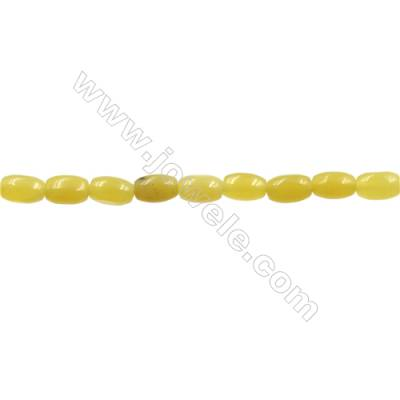 """Natural Olive Jade Bead Strands  Rice  Size 3x6mm  Hole 0.7mm  15~16""""x1strand"""