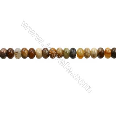 "Natural Flower Jade Bead Strands  Abacus  Size 5x8mm  Hole 0.9mm  15~16""x1strand"