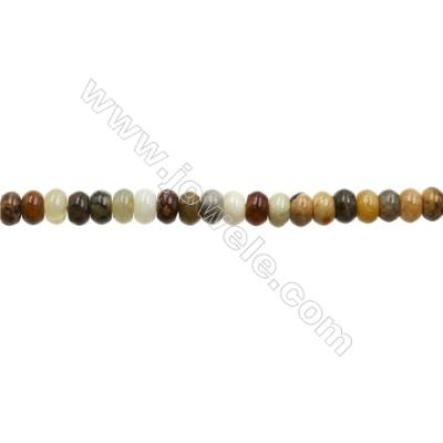 """Natural Flower Jade Bead Strands  Abacus  Size 4x6mm  Hole 0.7mm  15~16""""x1strand"""