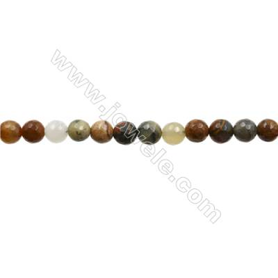 """Natural Flower Jade Bead Strands  Round(Faceted)  Diameter 8mm  Hole 1mm  15~16""""x1strand"""