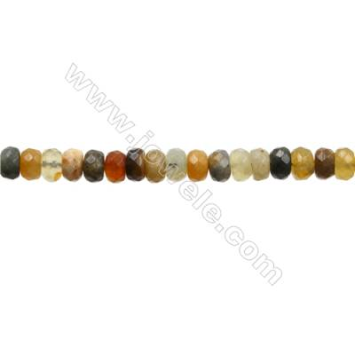 "Natural Flower Jade Bead Strands  Abacus(Faceted)  Size 5x7mm  Hole 1mm  15~16""x1strand"
