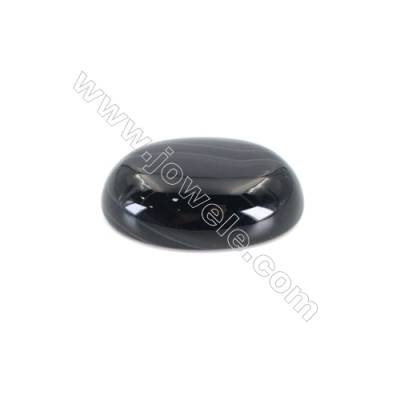 Natural Striped Black Agate Cabochons  Oval  Size 10x14mm x50pcs/pack