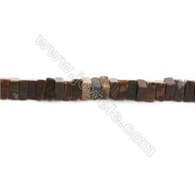 "Natural Black Striped Rhodochrosite Bead Strands  Triangle  Size 8x7mm  Thick 3mm  Hole 0.8mm  15~16""x1strand"