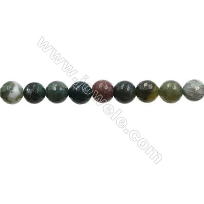 "Natural Indian Agate Bead Strands  Round(Faceted)  Diameter 10mm  Hole 1mm  15~16""x1strand"