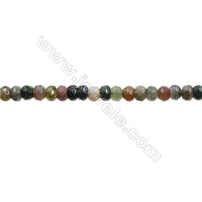 "Natural Indian Agate Bead Strands  Abacus(Faceted)  Size 4x6mm  Hole 0.7mm  15~16""x1strand"
