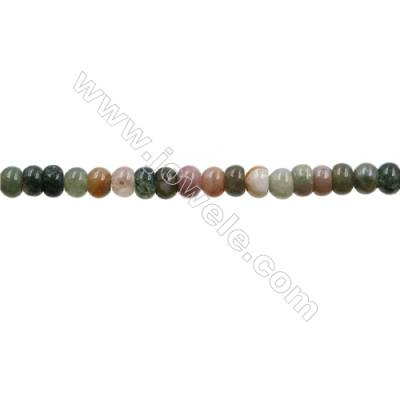 "Natural Indian Agate Bead Strands  Abacus  Size 4x6mm  Hole 0.7mm  15~16""x1strand"