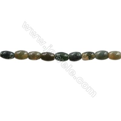 "Natural Indian Agate Bead Strands  Rice  Size 4x7mm  Hole 0.7mm  15~16""x1strand"