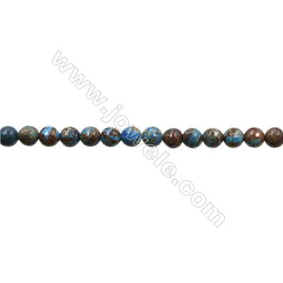 "Natural Flower Agate Bead Strands  Round(Faceted)  Diameter 6mm  Hole 0.8mm  15~16""x1strand"