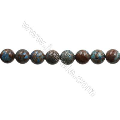 "Natural Flower Agate Bead Strands  Round  Diameter 12mm  Hole 1mm  15~16""x1strand"