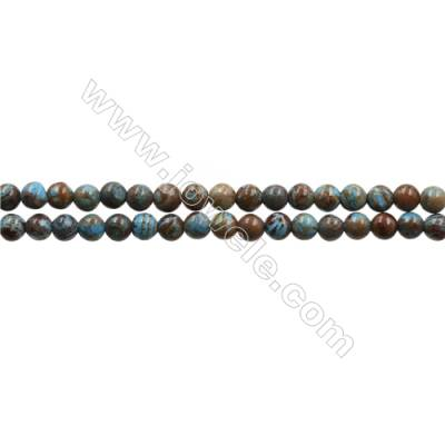 "Natural Flower Agate Bead Strands  Round  Diameter 3mm  Hole 0.5mm  15~16""x1strand"