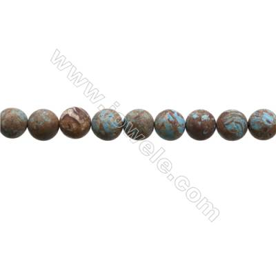 "Natural Flower Agate Matte Bead Strands  Round  Diameter 10mm  Hole 1mm  15~16""x1strand"