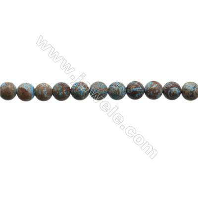 "Natural Flower Agate Matte Bead Strands  Round  Diameter 8mm  Hole 1mm  15~16""x1strand"