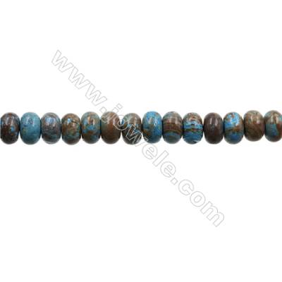 "Natural Flower Agate Bead Strands  Abacus  Size 6x10mm  Hole 1mm  15~16""x1strand"