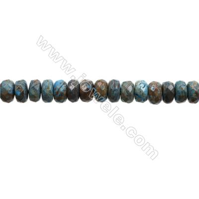 "Natural Flower Agate Bead Strands  Abacus(Faceted)  Size 6x10mm  Hole 1mm  15~16""x1strand"