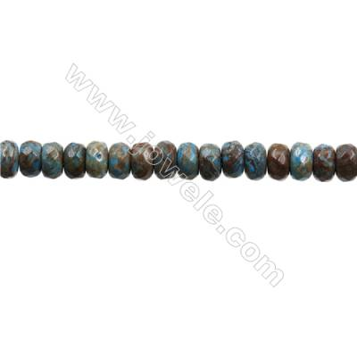 "Natural Flower Agate Bead Strands  Abacus(Faceted)  Size 5x8mm  Hole 0.8mm  15~16""x1strand"