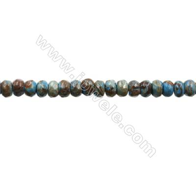 "Natural Flower Agate Bead Strands  Abacus(Faceted)  Size 4x6mm  Hole 0.8mm  15~16""x1strand"