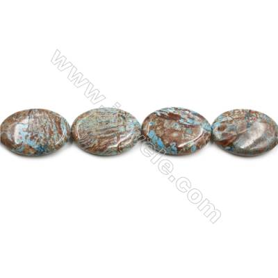 "Natural Flower Agate Bead Strands  Oval  Size 25x35mm  Hole 1.5mm  15~16""x1strand"