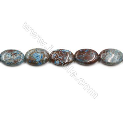 "Natural Flower Agate Bead Strands  Oval  Size 25x18mm  Hole 1mm  15~16""x1strand"