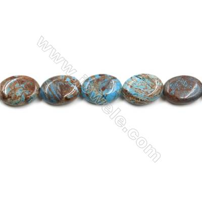 "Natural Flower Agate Bead Strands  Oval  Size 15x20mm  Hole 1mm  15~16""x1strand"