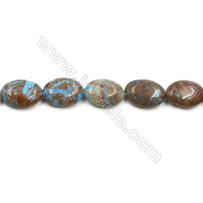 "Natural Flower Agate Bead Strands  Oval  Size 13x18mm  Hole 0.8mm  15~16""x1strand"