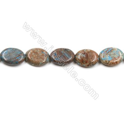 "Natural Flower Agate Bead Strands  Oval  Size 12x17mm  Hole 1mm  15~16""x1strand"