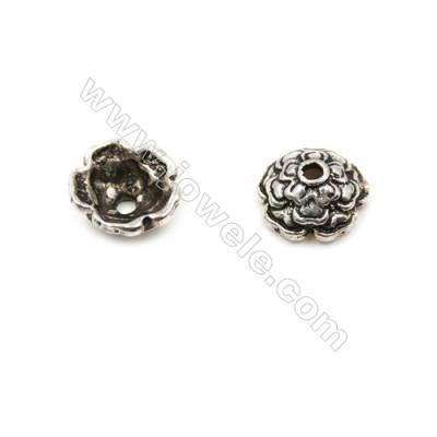 Thai Sterling Silver Flower Bead Caps  5-Petal  Size 6.5x3mm  Hole 1mm  50pcs/pack