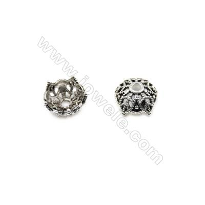 Vintage Jewelry Findings Thai Sterling Silver Bead Caps  Flower  Size 10x5.5mm  Hole 1.5mm  30pcs/pack