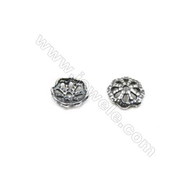 Thai Sterling Silver Bead Caps  Size 6x1.5mm  Hole 0.7mm  120pcs/pack