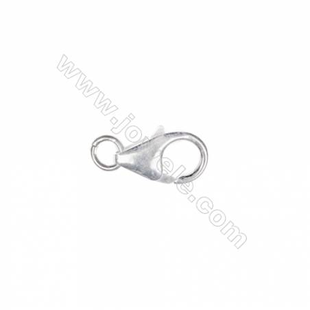 Sterling Silver 925 Lobster clasp, 6x10mm, x 60 pcs