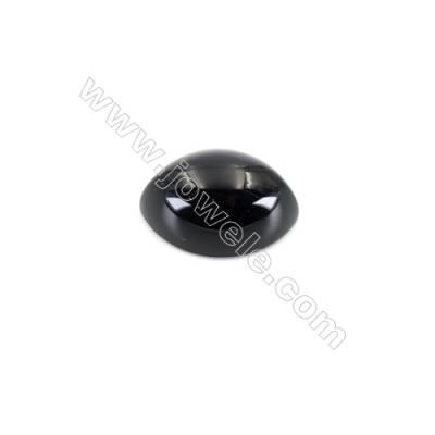 Gemstone black agate cabochon-YT1216  Olivary Size 12x16mm 50pcs/pack