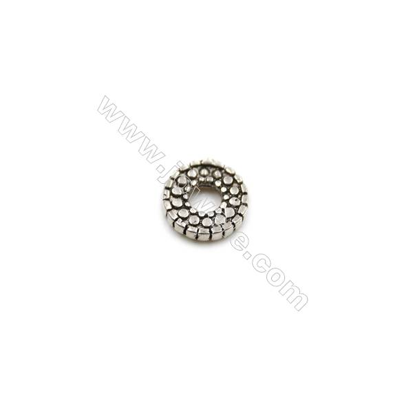 Thai Sterling Silver Spacer Beads  Round  Diameter 6mm  Hole 2mm  80pcs/pack