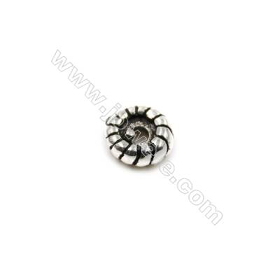 Thai Sterling Silver Spacer Beads  Round  Diameter 5mm  Hole 1mm  60pcs/pack