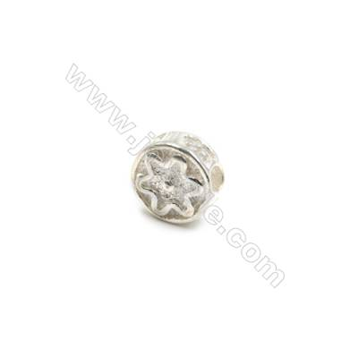 925 Sterling Silver Beads  Round  Diameter 7mm  Hole 1.5mm  20pcs/pack