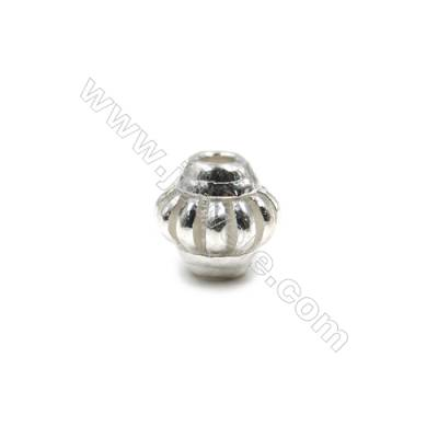 925 Sterling Silver Beads  Lantern  Size 10x10mm  Hole 2.5mm  6pcs/pack