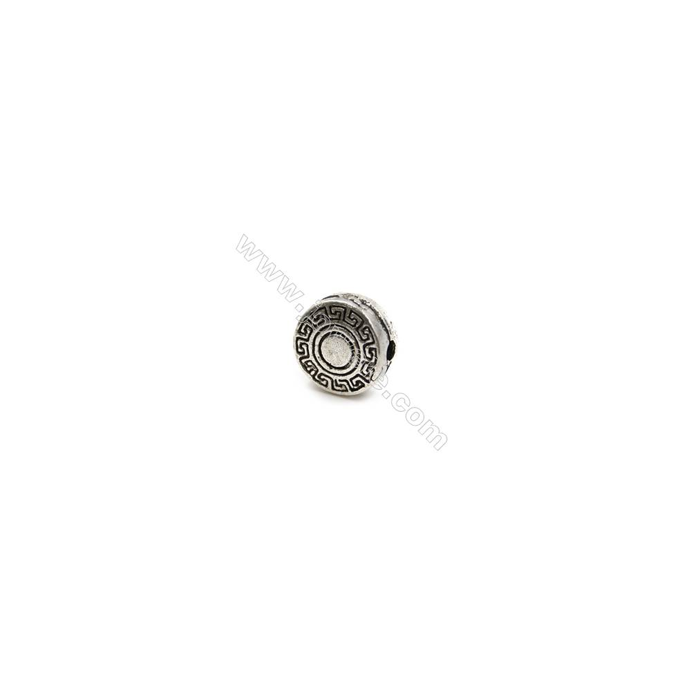 Thai Sterling Silver Beads  Round  Diameter 10mm  Hole 1.5mm  10pcs/pack