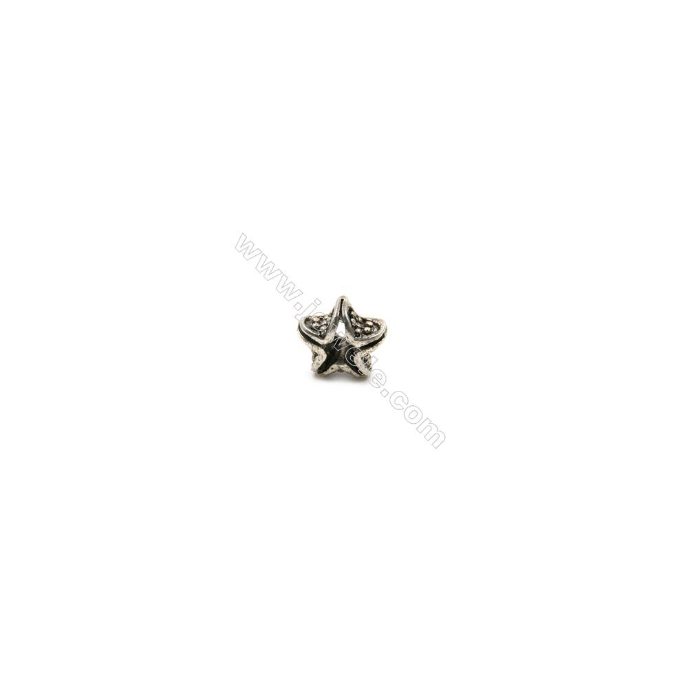 Thai Sterling Silver Beads  Star  Size 7x7mm  Hole 2.5mm  20pcs/pack