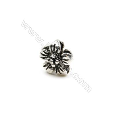 Thai Sterling Silver Charms  Flower  Size 9x6mm  18pcs/pack