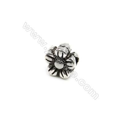 Thai Sterling Silver Beads  Flower  Size 8x8mm  Hole 1mm  20pcs/pack