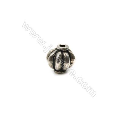 Thai Sterling Silver Beads  Lantern  Size 8x8mm  Hole 1.5mm  10pcs/pack