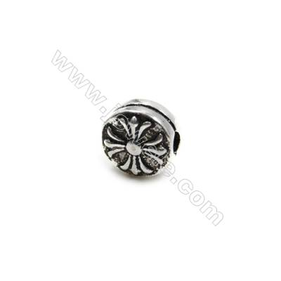 Thai Sterling Silver Beads  Round  Diameter 8mm  Hole 2mm  10pcs/pack