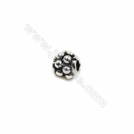 Thai Sterling Silver Beads  round  Size 4x4mm  Hole 1.5mm  40pcs/pack