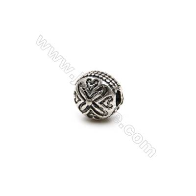 Thai Sterling Silver Beads  Round  Diameter 7mm  Hole 1.5mm  10pcs/pack