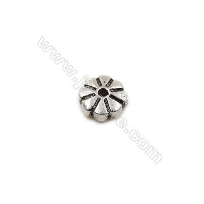 Thai Sterling Silver Beads  Round  Diameter 5mm  Hole 0.7mm  50pcs/pack