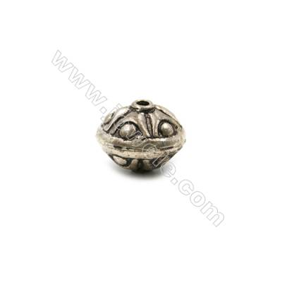 Thai Sterling Silver Beads  Gyro  Size 9x11mm  Hole 1mm  10pcs/pack