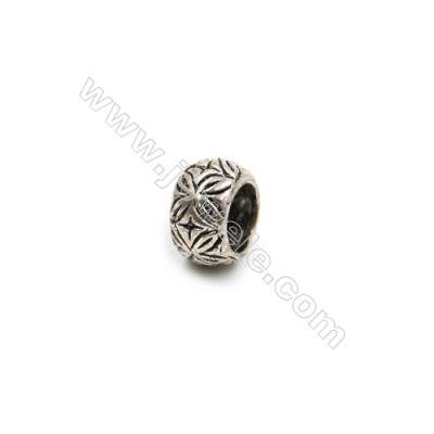 Thai Sterling Silver Beads  Round  Diameter 6mm  Hole 4mm  40pcs/pack