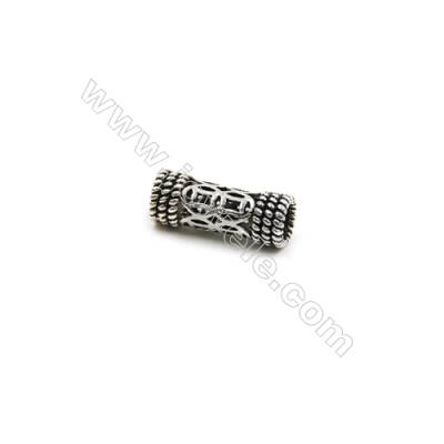 Thai Sterling Silver Charms  Tube  Size 14x5mm  Hole 3.5mm  20pcs/pack