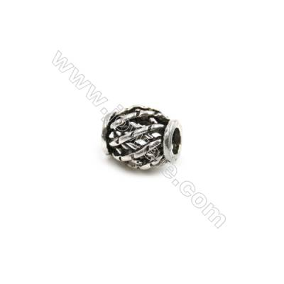 Thai Sterling Silver Beads  Column  Size 6x8mm  Hole 2.5mm  30pcs/pack