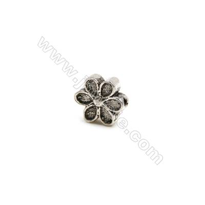 Thai Sterling Silver Beads  Flower  Size 7x8mm  Hole 1mm  20pcs/pack