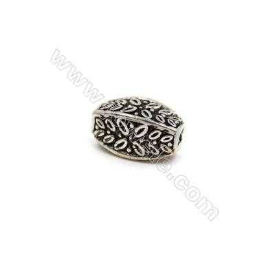Thai Sterling Silver Beads  Size 7x14mm  Hole 1.5mm  6pcs/pack
