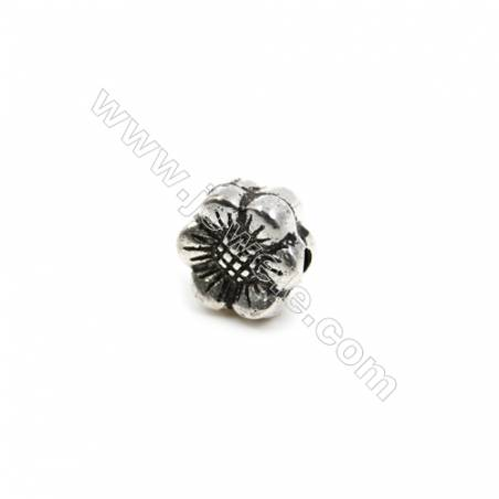 Thai Sterling Silver Beads  Sun Flower  Size 8x9mm  Hole 1.5mm  14pcs/pack